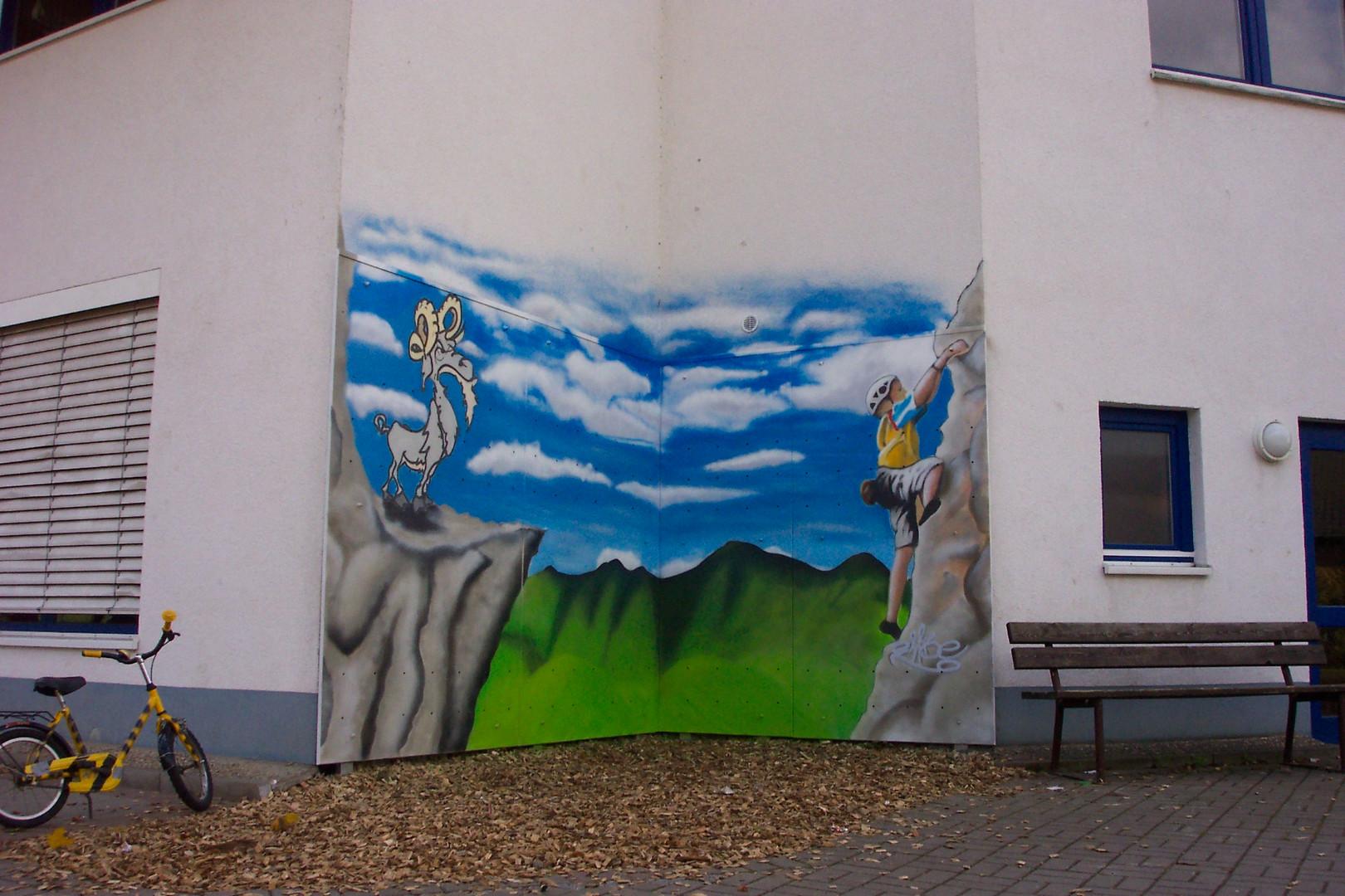 Kletterwand Altenburgschule Biebergemünd-Kassel