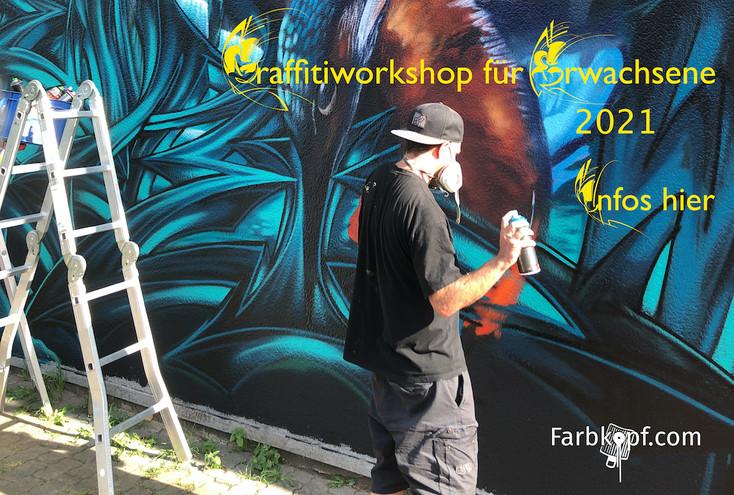 Graffitiworkshop für Erwachsene 2021