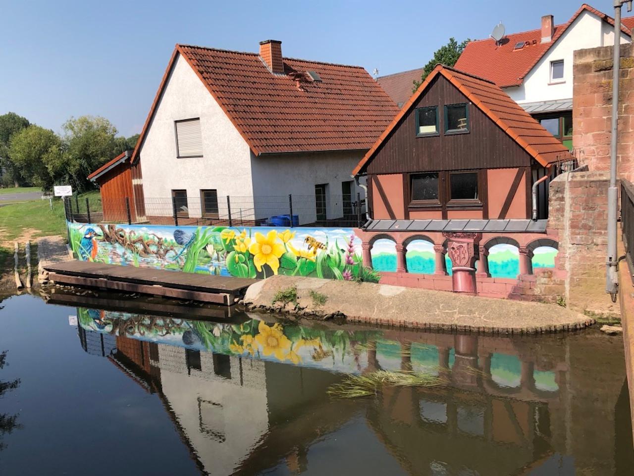 Fassade Bootsteeg an der Müllerwiese Gelnhausen
