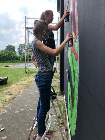 Schüler-Workshop innerhalb Lack&Lines 2018 in Wächtersbach