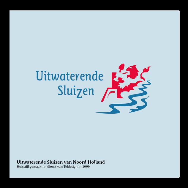 logo en huisstijl Uitwaterende Sluizen van NoordHolland