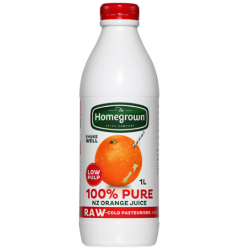 Homegrown Orange Juice Low Pulp 1L