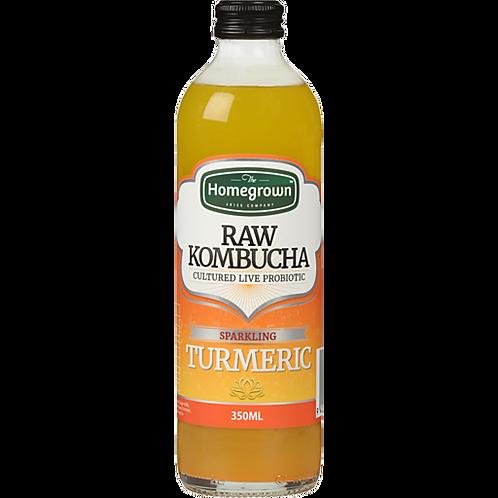 Homegrown Sparkling Turmeric Raw Kombucha 350ml