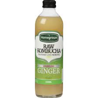 Homegrown Sparkling Ginger Raw Kombucha 350ml
