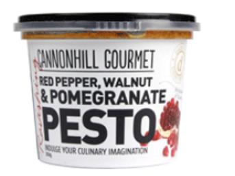 Cannonhill Gourmet Red Pepper, Walnut & Pomegranate Pesto