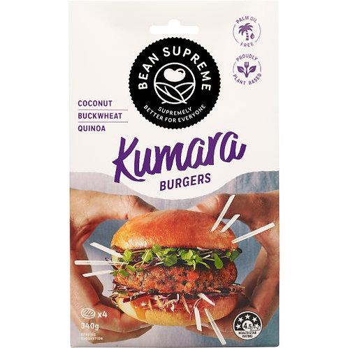 Bean Supreme Kumara Burgers