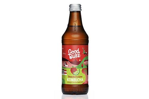 Good Buzz Kombucha Strawberry Lime 328ml