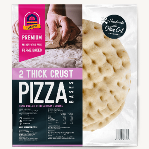 Turkish Bread Thick Crust Pizza Bases