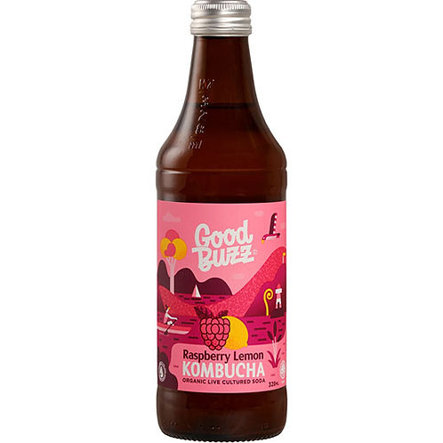 Good Buzz Kombucha Raspberry Lemon 328ml