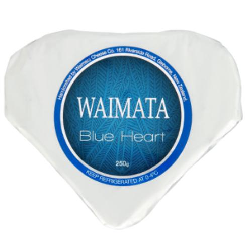Waimata Blue Brie Heart 250g
