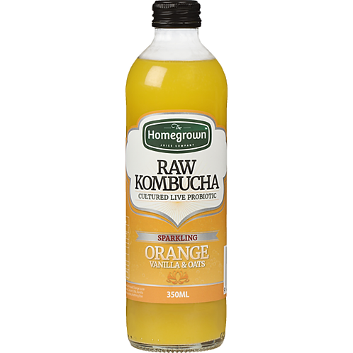 Homegrown Sparkling Orange, Vanilla & Oats Raw Kombucha 350ml