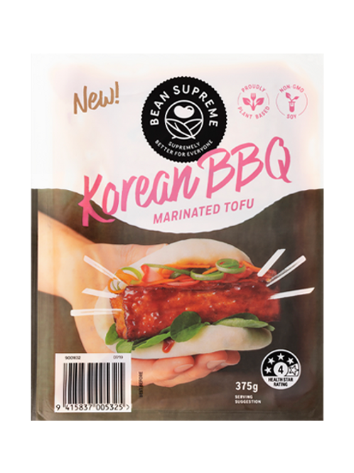 Bean Supreme Korean BBQ Marinated Tofu