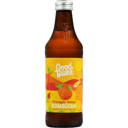 Good Buzz Kombucha Pineapple Mango 328ml