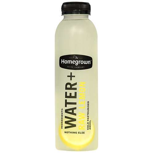 Homegrown Water + Raw Lemon 485ml