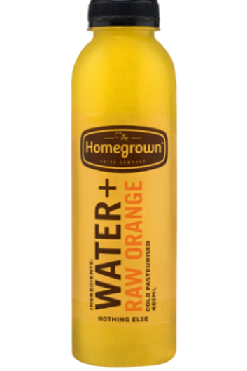 Homegrown Water + Raw Orange Juice 485ml