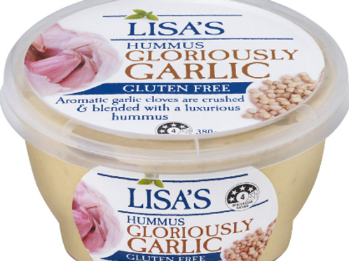 Lisa's Gloriously Garlic Hummus 380g