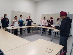 School leaders taking oath