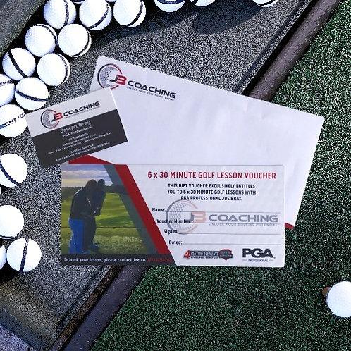 6 x 30 Minute Golf Lesson Voucher