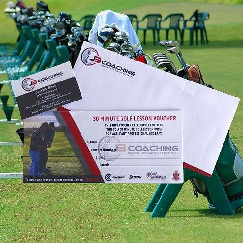 30 Minute Golf Lesson Voucher
