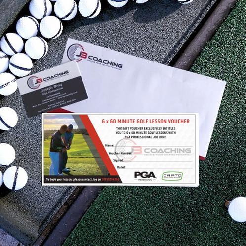 6 x 60 Minute Golf Lesson Voucher