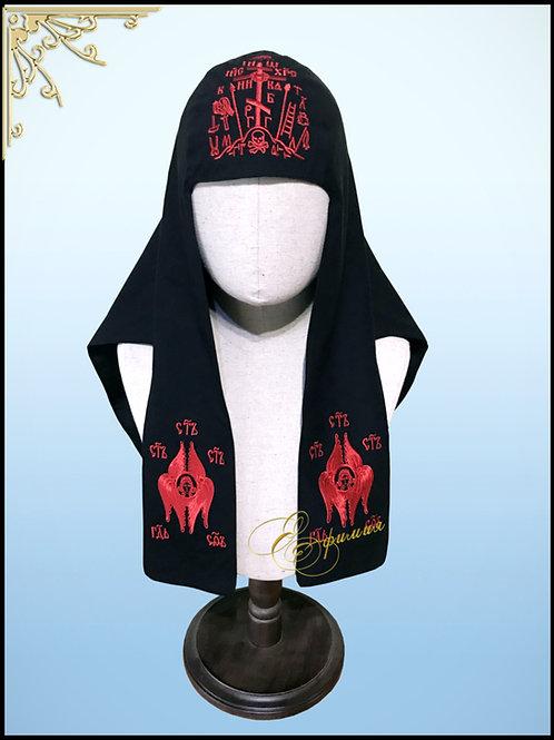 Наметка- Каптырь схимнический с вышивкой К