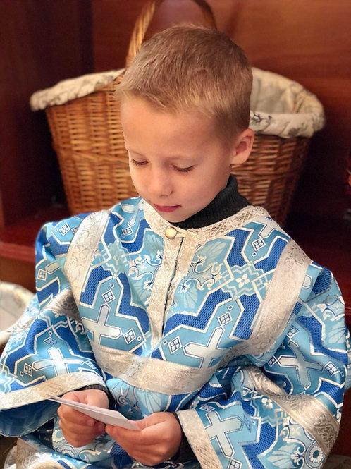 Стихарь детский голубой цвет