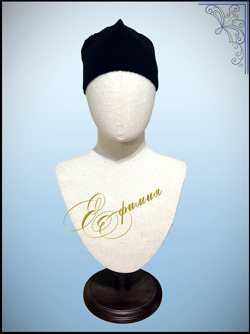 Вязаная монашеская шапка-скуфья