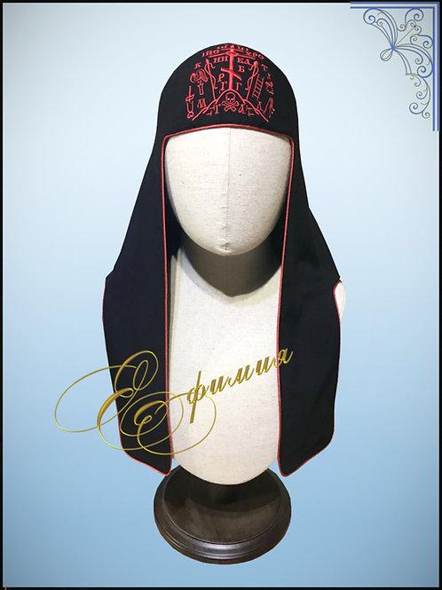 Наметка-каптырь с вышивкой для схимонаха