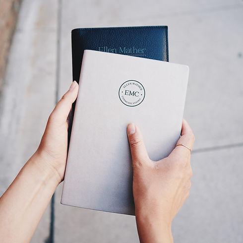 Ellen Mather Communications Notebook design