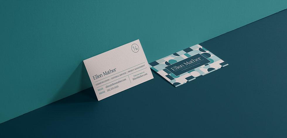 Ellen Mather Communications Business Card Design
