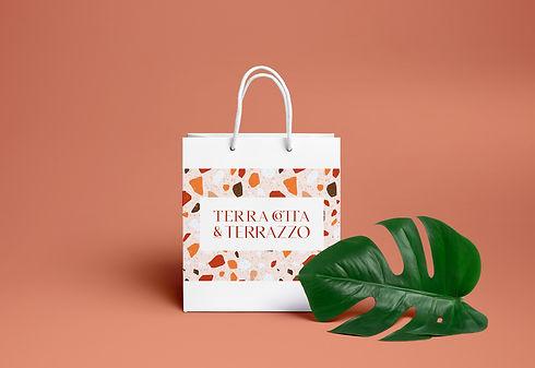 Boho boutique branded shopping bag