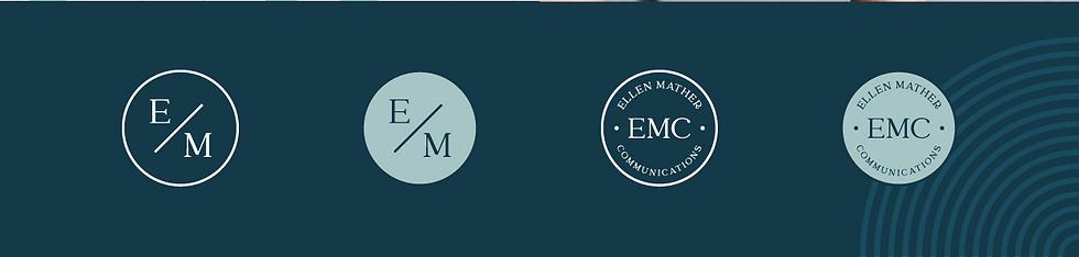 Ellen Mather Communications branding elements