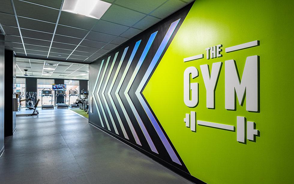 Gym branded enviroment wall installation
