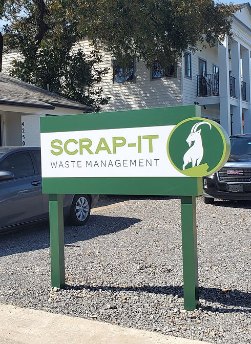 Scrap-It Monument Sign