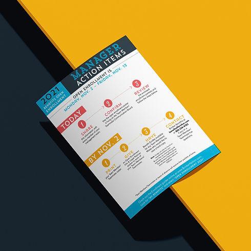 Benefits Open Enrollment flyer design materials