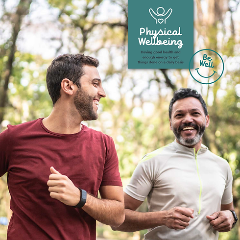 Physical Wellbeing icon with men running