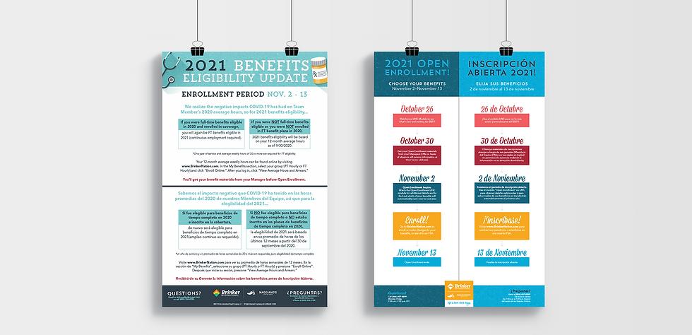 Benefits Open Enrollment posters