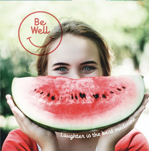 Smiling girl with Watermelon and Wellness program branding