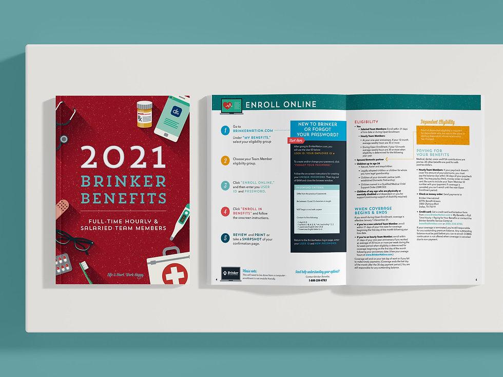 Corporate Benefits open enrollment brochure materials