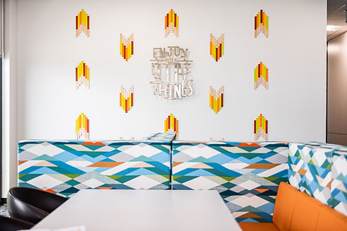 Inspiration corporate office mural installation