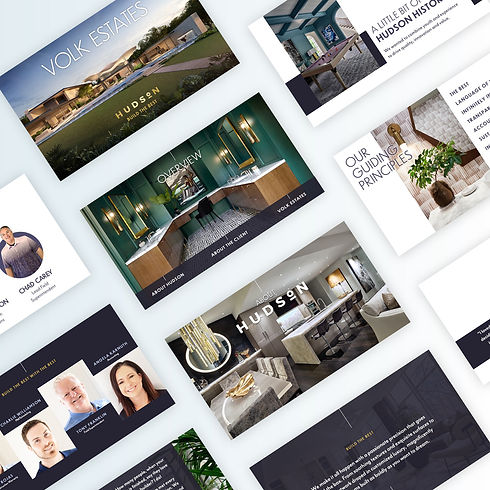 Elegant presentation pitch deck design