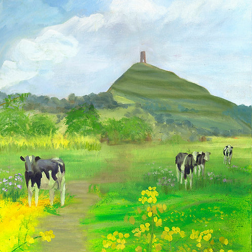 Cows Beneath the Tor