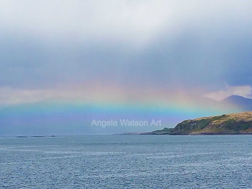 Sunbow with Angel Oban to Mull