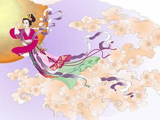 La fête de la mi-automne: légende Chang'e s'envoie vers la lune