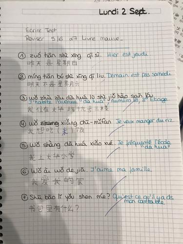 Créer des phrases en chinois-débutant