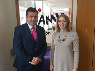 Gavin Newlands MP meets with anti-bullying charity
