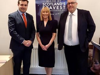 Gavin Newlands MP visits Scotland's Bravest Manufacturing Company