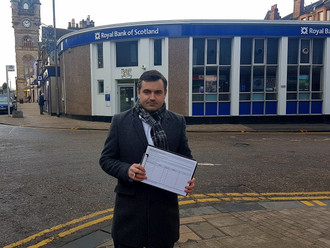 Gavin Newlands MP launches petition to save local RBS bank