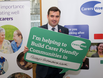 Local MP Gavin Newlands attends Carers Week event
