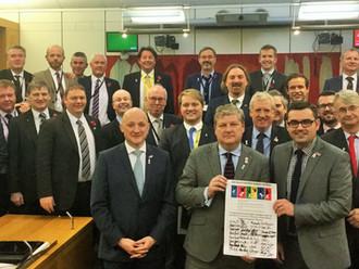 MPs celebrate White Ribbon Campaign milestone in parliament